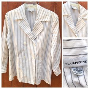 Evan-Picone Double Breasted Blouse Vintage